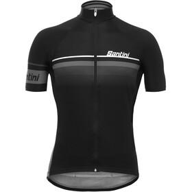 Santini Mare Maillot de cyclisme Homme, black/white